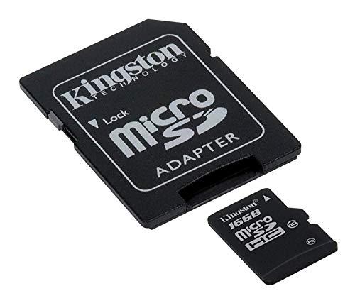 Kingston – Tarjeta microSDHC de 16 GB para Huawei P30 Lite con Formato Personalizado y Adaptador SD…