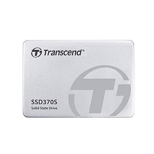 Transcend SSD370S interne SSD 256GB (6,4 cm (2,5 Zoll), SATA III, MLC) mit Aluminium-Gehäuse silber