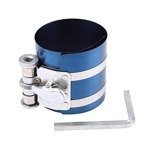 Compresor de anillo de pistón de motor, compresor de anillo de pistón, herramienta de trinquete de banda de instalación de compresor de anillo de pistón de motor de coche(3in)