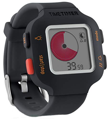 Time Timer Orologio Plus Gioventù, Colore Carboncino/Oranga