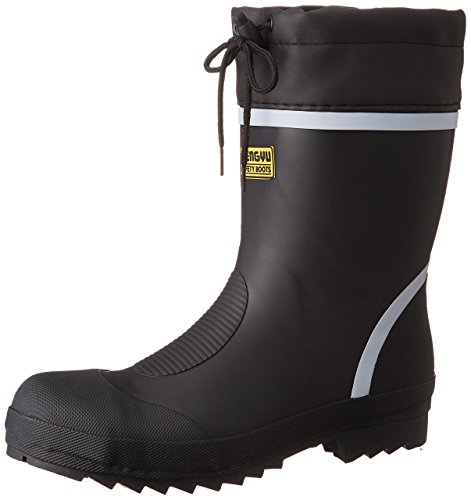 [富士手袋工業] 安全長靴 ショート カバー付 抗菌・防臭加工 9705 メンズ BLACK 28.0cm