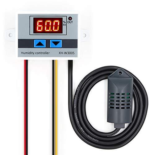 ペット暖房装置 デジタル湿度コントローラ湿度計湿度制御スイッチ0~99%RH湿度センサー付きhygrostat ペットケア (Color : 24V)