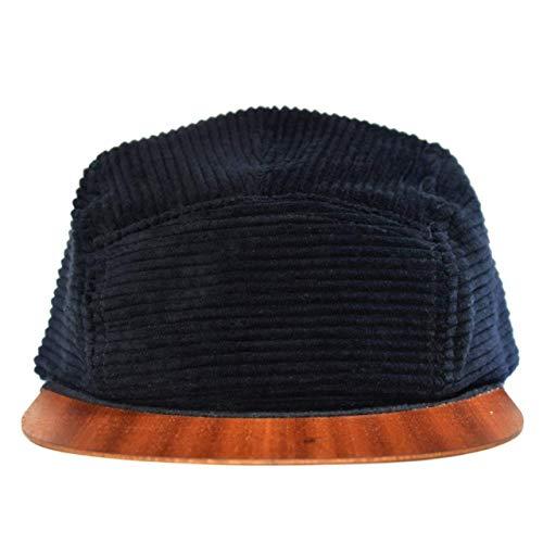 Cap Herren Made in Germany - Cord Cap mit edlem Holzschild - Snapback Sommercap