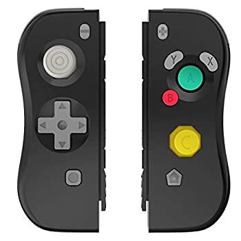 Joy Con Controller Replacement for Switch L/R Switch Joy Pad Support Wake-up Function Wireless Switch Controller Remote Gamepadwith Wrist Strap and Charging Cable  Black