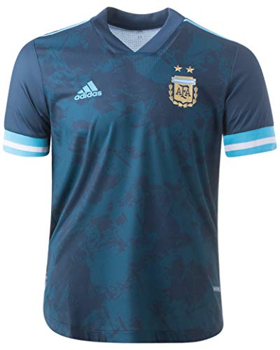 adidas Argentina Away Authentic Mens Soccer Jersey- 2020 (M) Blue