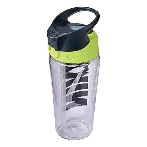 Nike Unisex-Erwachsene TR HYPERCHARGE Straw Bottle 24 OZ / 709ml Trinkflasche, Clear/Volt/COOL Grey/Black, One Size