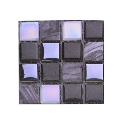 Byrhgood 10 unids Fuerte Autoadhesivo Mosaico azulejo Espalda Placa Pegatina de Pared 3D Impermeable Impermeable Vinilo Pared decalitación DIY habitación baño Cocina Cocina (Color : B09)