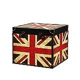 JPVGIA Caja de Almacenamiento Plegable Grande Caja de Juguetes para niños en el Pecho de Almacenamiento Plegable de Cuero Vintage (Size : 11.8x10 in)