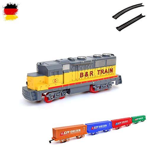 HSP Himoto Elektrische Eisenbahn Starter-Set, Zug, Dampf-Lok , Soundsimulation, Modell-Lokomotive, Komplett-Set inkl. Zubehör