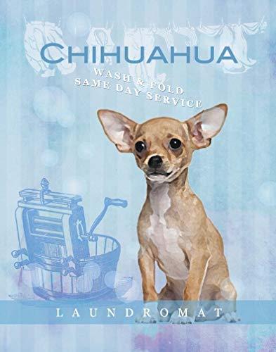 Manta de 152,4 x 127 cm, cómoda y cálida, suave felpa, para sofá, perro, Chihuahua, lavadero de lavandería, plegable, amor motivacional, vintage, linda