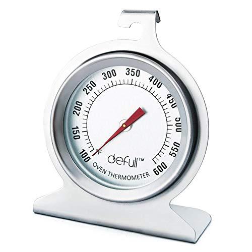 Ofenthermometer mit großem Zifferblatt, klar, große Zahlen, leicht ablesbares Ofenthermometer mit Haken und Plattenboden, zum Aufhängen oder Aufstellen im Ofen