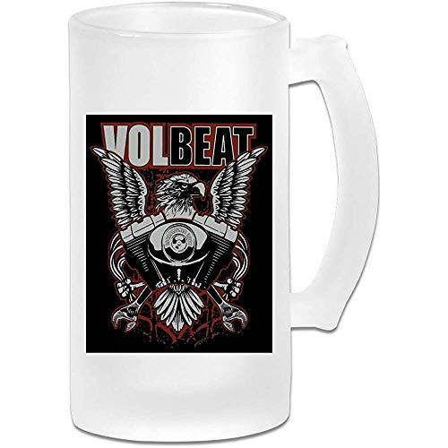 Gedruckte 16oz Milchglas Bier Stein Tasse Tasse - Volbeat Print Design - Grafikbecher