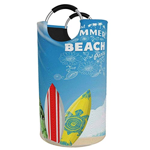 N\A Cesta de lavandería Grande de 82 l, Elegante Cesta de Ropa Plegable de Tela con Ajuste de Tabla de Surf, Bolsa de Ropa Plegable, Cesta de Almacenamiento Plegable para lavadero