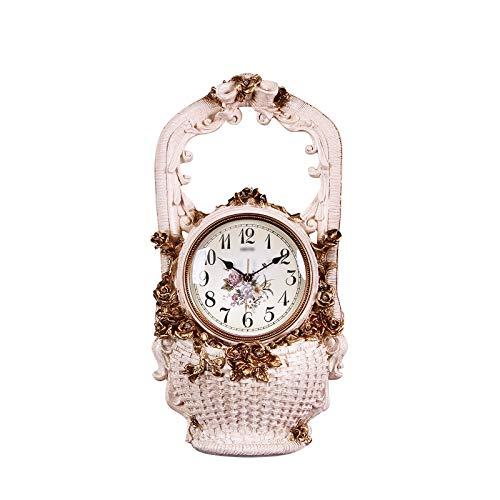 luckxuan Reloj de Mesa Decoración del hogar Mesa de Mesa Moda Mute Resina Tabletop Powered Tabletop Reloj de Escritorio de un Solo Lado Dé un Regalo a un Amigo Relojes de Escritorio