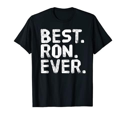 Mejor Ron, Ever. Divertida idea de regalo de padre para hombres Camiseta