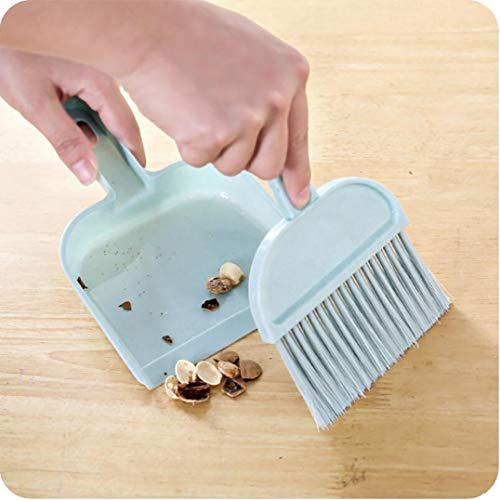 Premium Qualität Mini Desktop Sweep Reinigungsbürste Kleine Besen Kehrschaufel Set Sky BlueCarry Stone