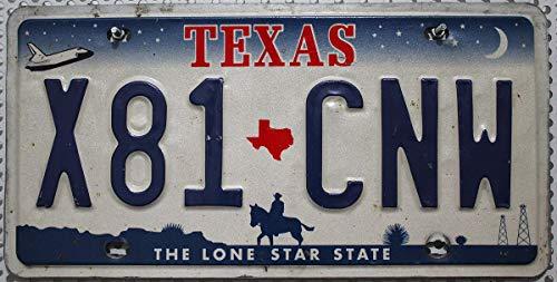 Original USA Nummernschild Texas // US License Plate // Metallschild Fahrzeug-Kennzeichen