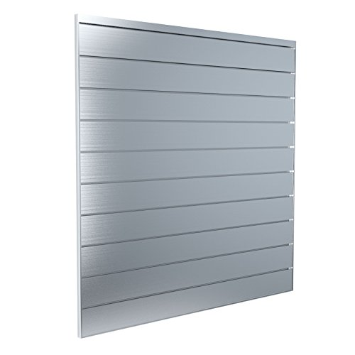 Proslat 88901 Aluminum Slatwall Garage Organize Storage System, 4 x 4', Silver