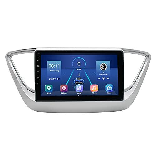 Kilcvt 9 En IPS Android 10 Ocho Núcleos 4g + 64g Reproductor De GPS De Navegación De DVD para Automóvil, para Hyundai Verna 2018 Soporte Control del Volante/Bluetooth (para 4g + 64g)