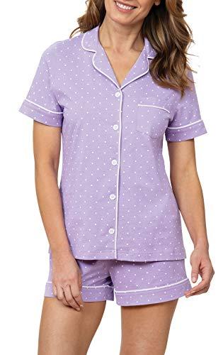 PajamaGram Womens Pajama Sets Cute - Soft Pajamas for Women, Lavender, L, 14-16