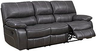 Global Furniture Reclining Sofa, Grey/Black