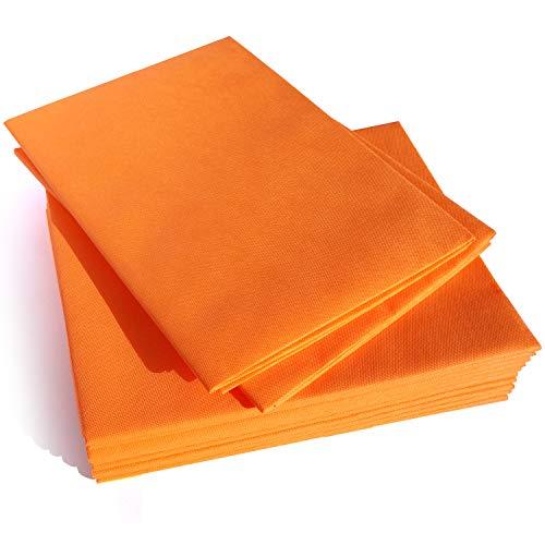 Dr. Güstel Waschfaserlaken® ACTIV orange 80x210cm 10 Laken + 2 GRATIS 300x waschbar STANDARD 100 by OEKO-TEX®-zertifizierte Vlieslaken Auflagen für Behandlungsliegen Therapieliegen