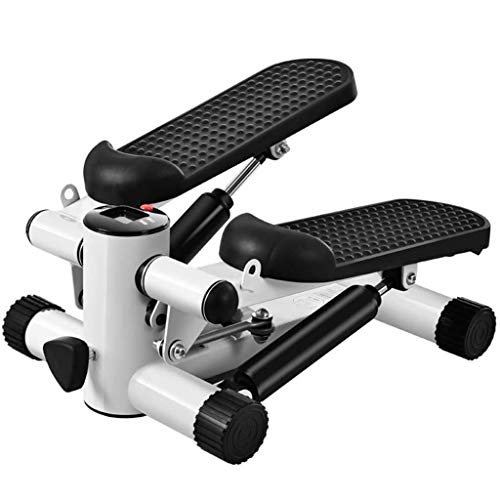 Mini Stair Hydraulische Fitness Stepper Met LCD-display En Resistance Band Huishoudelijke Silent Twist Fitness Equipment (Color : Black)