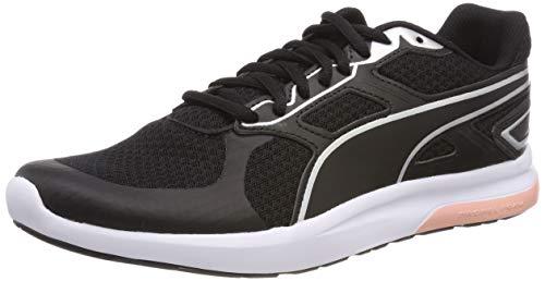 Puma Unisex-Erwachsene Escaper Tech Fitnessschuhe, Schwarz (Puma Black-Silver-Puma White-Peach Bud), 41 EU (7.5 UK)