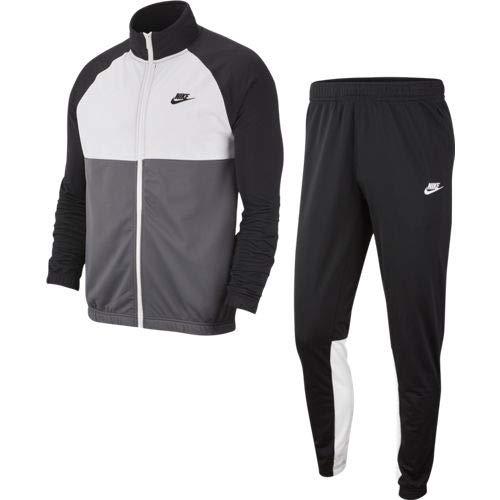 Nike Herren M NSW CE PK Tracksuit, Black/Dark Grey/White, XL