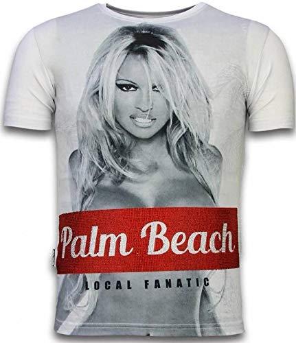 Local Fanatic Palm Beach Pamela - Digital Rhinestone Camisetas Personalizadas -