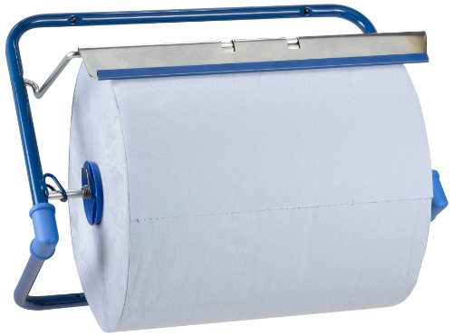 Funny AG-522 Wandhalten für Putztuchrollen, Metall Blau, Rollen bis 40 cm Breite