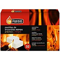 Ok Fuego 87002 Pastillas Encendido, Carbón, Talla Única