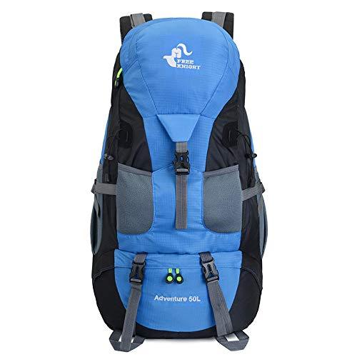 Mochila Backpack Impermeable Mochilas, Mochila De Trekking Impermeable Unisex, Bolsas De Escalada De Montaña para Deportes Al Aire Libre Azul Claro Entrega Rápida Gratuita