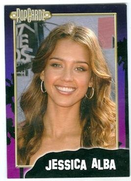Jessica Alba trading card (Fantastic Four, Sin City) 2008 Popcardz #17