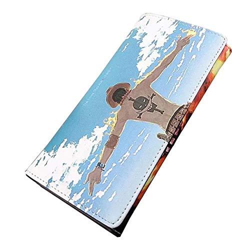 Pallima Portafogli Portafoglio di Grande capacità Portafogli per Telefono di Lunga Durata Custodia per Telefono A Doppio Strato Custodia per Riporre 19X11 cm One Piece - Ace