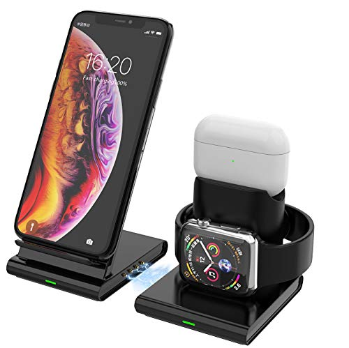 Callstel Apple Watch Ladegerät: 3in1-Induktions-Ladestation für Smartphone, Apple Watch & AirPods, 10W (Apple Watch Ladekabel)