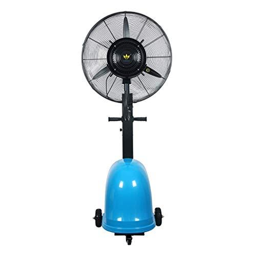 NSYNSY Pedestal Potente Ventilador Ventilador de nebulización oscilante Fábrica Industrial Ventilador de pulverización de nebulización Refrigeración Humidificador de Piso Atomización Comercial Vent