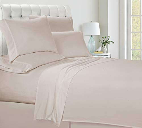 Swift Home Luxury Bedding Collection, Ultra-Soft Brushed Microfiber 6-Piece Bed Sheet Sets, Extremely Durable - Easy Fit - Wrinkle Resistant - (Includes 2 Bonus Pillowcases), Queen, Cream