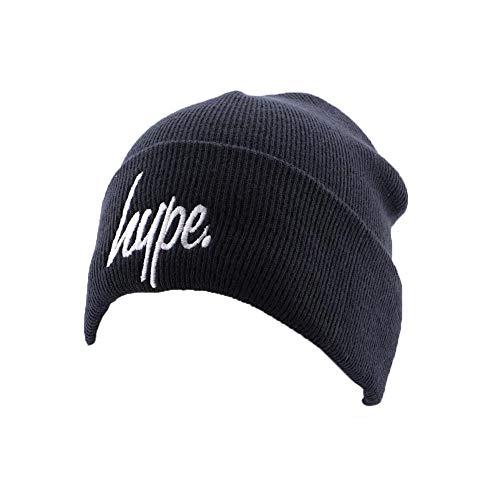 Hype Bonnet à Revers Script Marine et Blanc - Mixte