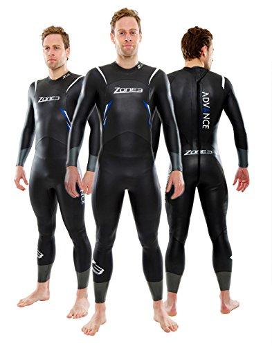 ZONE3 Combinaison de Triathlon Advance 2014 pour Homme, Noir/Bleu, S