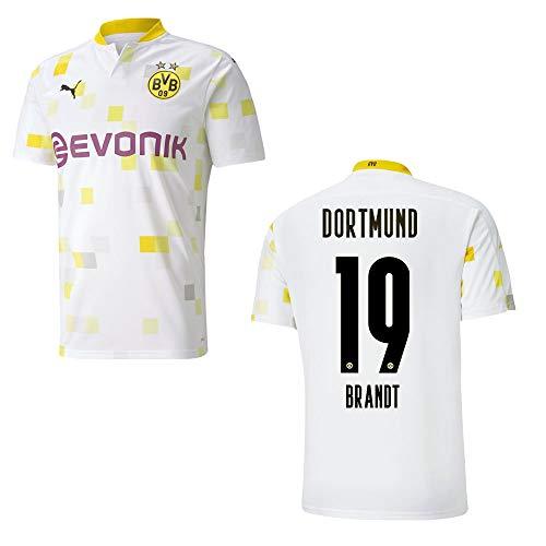 PUMA BVB Trikot 3rd Kinder 2021, Größe:128, Spielerflock (zzgl. 10.00EUR):19 Brandt