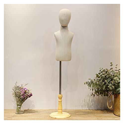 CAIJUN Maniquí Infantil, Forma De Vestido De Torso Soporte De Maniquí Monitor Ideal For Disfraces Ropa En Encimera Vidriera De Tienda, 4 Tamaños (Color : 2year)