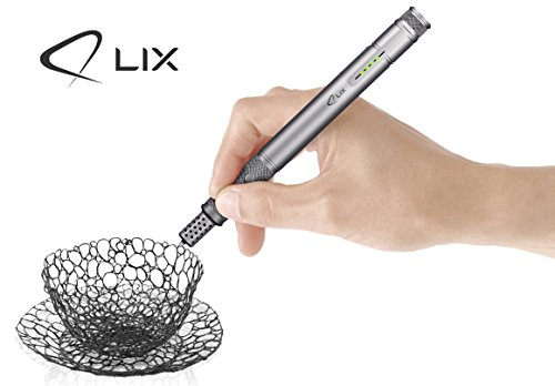 LIX PEN (Grey) - 3D Pen - 2 Packs of plastic...