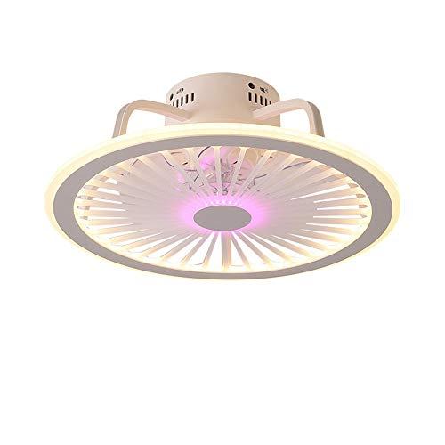 ZRWZZ Luz De Ventilador, Techo De Techo Led Regulable Ultra Silencioso, Ventilador De Techo con Luz, Ventilador Creativo Invisible con Control Remoto, Sala De Estar Moderna