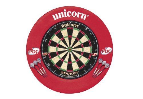 Unicorn Dartboard Striker Surround Home Dart Centre - Black/White/Red/Green by Unicorn