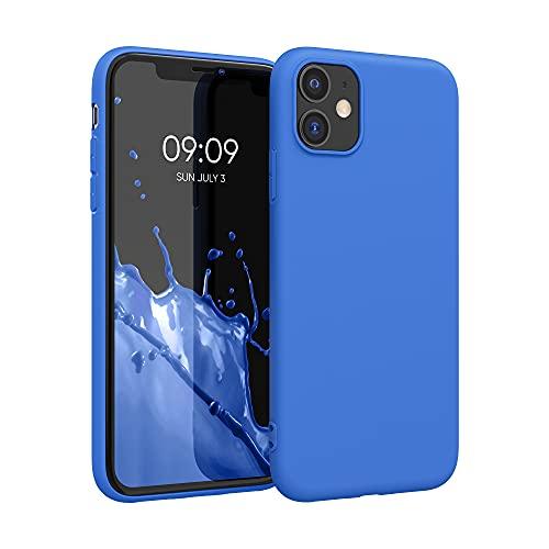 kwmobile Hülle kompatibel mit Apple iPhone 11 - Hülle Silikon - Soft Handyhülle - Handy Case in Neon Blau
