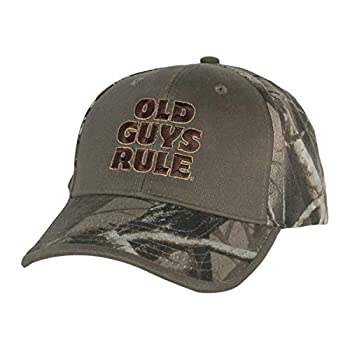 OLD GUYS RULE Hat Baseball Cap for Men | Bucks Trucks & Ducks | for Dad Husband Grandfather | Camo
