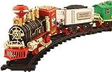 Skyzal Kids Toy Train Emits Real Smoke Light Sound Track Set Battery Operated Choochoo Classical (Multicolor)