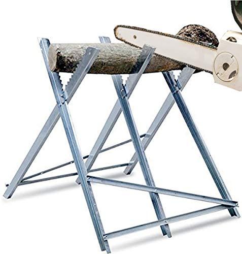 Sägebock für Holz aus Metall 81x80,5x79 cm verzinkt 150kg Belastbarkeit Sägegestell zusammenfaltbar