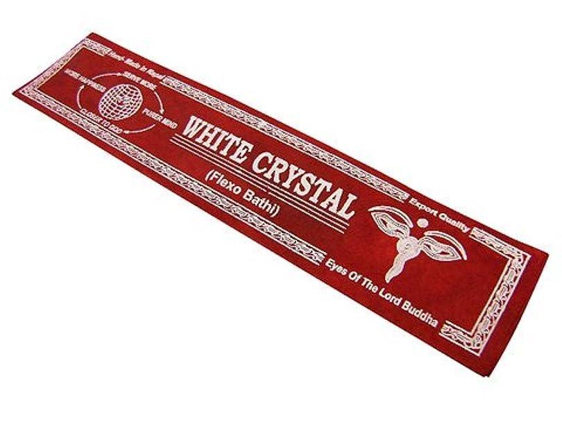 チップ変な薄いNEPAL INCENSE ネパールのロクタ紙のお香【WHITECRYSTALホワイトクリスタル】 スティック